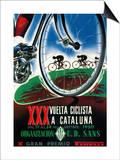 Reclame voor wielerwedstrijd Poster van  Lantern Press