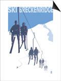 Breckenridge, Colorado Ski Lift Poster by  Lantern Press