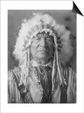 Sitting Bear, Arikara Native American Man Curtis Photograph Poster by  Lantern Press