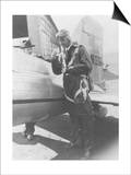 Howard Hughes Pilot Boarding Plane in Full Uniform Photograph - Newark, NJ Posters