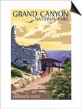 Grand Canyon National Park - Hermits Rest Posters by  Lantern Press