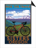 Sisters, Oregon - Mountain Bike Prints by  Lantern Press