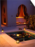 Four Seasons Resort Hotel, Plunge Pool in Private Outdoor Area of the Spa at Night Posters by John Warburton-lee