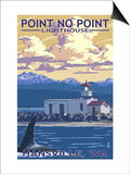 Point No Point Lighthouse - Hansville, WA Prints by  Lantern Press