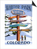 Winter Park, Colorado - Sign Destinations Posters by  Lantern Press