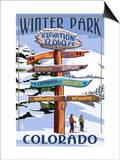 Winter Park, Colorado - Sign Destinations Posters by  Lantern Press