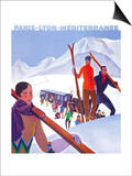 Chamonix Mont-Blanc, France - PLM Railway Promotional Poster Prints by  Lantern Press
