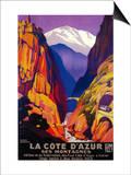 La Cote D'Azur Vintage Poster - Europe Prints by  Lantern Press