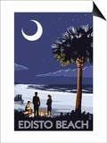 Edisto Beach, South Carolina - Palmetto Moon Posters