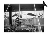 Wright Brothers Plane with Pilot and Passenger Seats Photograph - Dayton, OH Prints by  Lantern Press