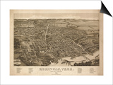 Knoxville, Tennessee - Panoramic Map Prints by  Lantern Press