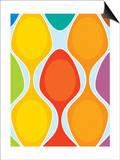 Colorful Retro Pattern Print