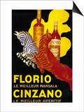 Florio Cinzano Vintage Poster - Europe Poster by  Lantern Press