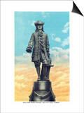 Philadelphia, Pennsylvania - William Penn Statue on City Hall Tower Posters by  Lantern Press