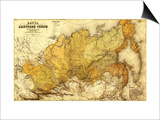 Russia - Panoramic Map Poster