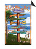 Hilton Head, South Carolina - Destination Signs Posters