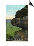 Blue Ridge Mountains, South Carolina - Caesar's Head East Side View Poster by  Lantern Press