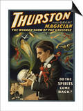 Thurston the Great Magician Holding Skull Magic Poster Prints by  Lantern Press