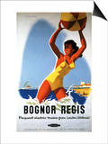 Bognor Regis, England - British Railways Girl and Beachball Poster Posters by  Lantern Press