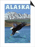 Bald Eagle, Alaska Poster by  Lantern Press
