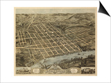 Knoxville, Tennessee - Panoramic Map Posters