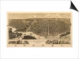 La Crosse, Wisconsin - Panoramic Map Prints