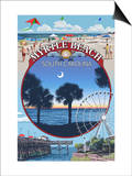 Myrtle Beach, South Carolina - Montage Posters by  Lantern Press