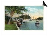 Miami, Florida - Miami River from Budge Dock Prints by  Lantern Press