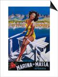 Apuania, Italy - Massa Marina Travel Poster Prints by  Lantern Press
