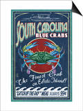 Edisto Beach, South Carolina - Blue Crabs Posters by  Lantern Press