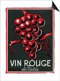 Vin Rouge De Table Wine Label - Europe Prints by  Lantern Press