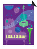 Musical Instrument Montage Art