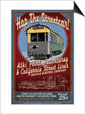 Seattle, Washington - West Seattle Streetcar Art by  Lantern Press