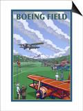 Boeing Field, Seattle, Washington Prints by  Lantern Press