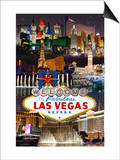 Las Vegas Casinos and Hotels Montage Posters by  Lantern Press