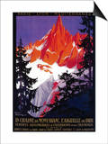 La Chaine De Mont-Blanc Vintage Poster - Europe Print by  Lantern Press