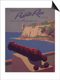 Puerto Rico, USA - Travel Promotional Poster Art by  Lantern Press