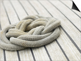 Knot of Rope on Wooden Boat Deck Prints