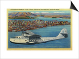 """Pan American Airways """"China Clipper"""" from Orient - San Francisco, CA Print by  Lantern Press"""