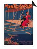 Monte Carlo, Monaco - Aviation Sporting Poster Posters