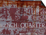 Faded French Quarter Sign, New Orleans, Louisiana, Usa Art