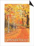 Connecticut, Fall Colors Scene Prints by  Lantern Press