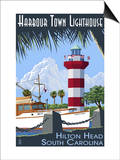 Hilton Head, South Carolina - Harbour Town Lighthouse Prints by  Lantern Press