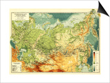 Russia - Panoramic Map Prints by  Lantern Press