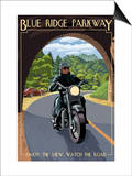 Motorcycle and Tunnel - Blue Ridge Parkway Prints by  Lantern Press