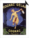 France - Cognac Gelas Promotional Poster Poster by  Lantern Press