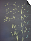 Algebra Equation on Blackboard Posters