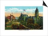 Philadelphia, Pennsylvania - University of Pennsylvania Campus Print by  Lantern Press