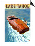 Lake Tahoe, California - Wooden Boat Print by  Lantern Press