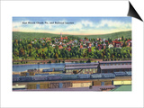 Jim Thorpe, Pennsylvania - View of East Mauch Chunk and Rr Junction Art by  Lantern Press